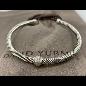 David Yurman 4mm Cable Bracelet with Diamonds 💎